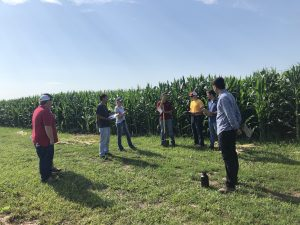 Badger Weeds Team Practicing at Monsanto Research Farm, Janesville, WI
